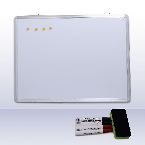 HOMCOM Magnetic Board Whiteboard Writing Office Home Magnet with Accessories 47.2x35.4inch