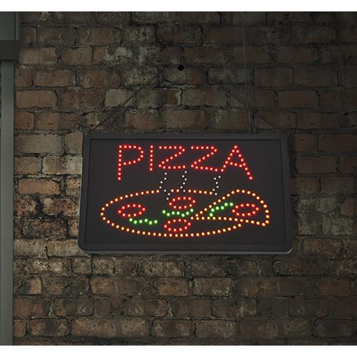 HOMCOM New LED Pizza Sign Light Flashing Window Display High Visibility Neon Sign Board