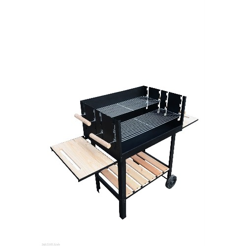 Outsunny Free Standing Barbecue Grill Trolley Charcoal BBQ Patio Outdoor Garden with Wheels Black