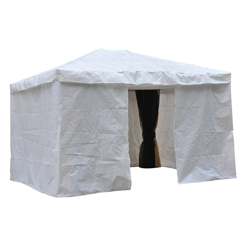Outsunny 10x12FT Gazebo Cover Party Tent Canopy Sidewalls Sun Shelter with Doors