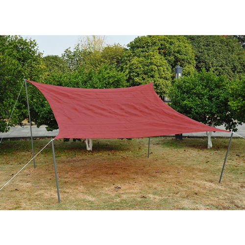 Outsunny 12FT Sun Sail Shade Square UV Top Canopy Cover Lawn Patio Pool Garden