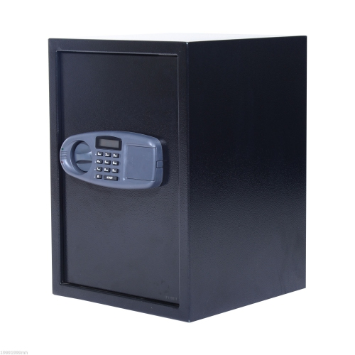HOMCOM Electronic Wall Safe BoxDigital Lock Standing Safety Security Cash Jewelry Home Office Hotel Black