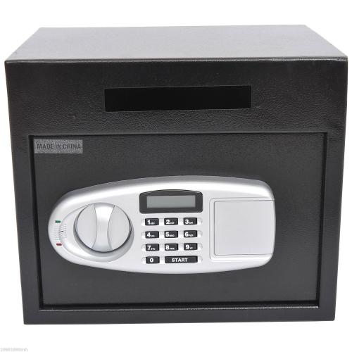 HOMCOM Wall Mounted Steel Electronic Digital Safe Boxwith Letter Drop Slot Keypad Lock
