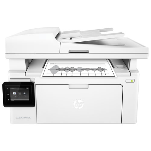 HP LaserJet Pro Wireless All-In-One Printer (M130fw) - White