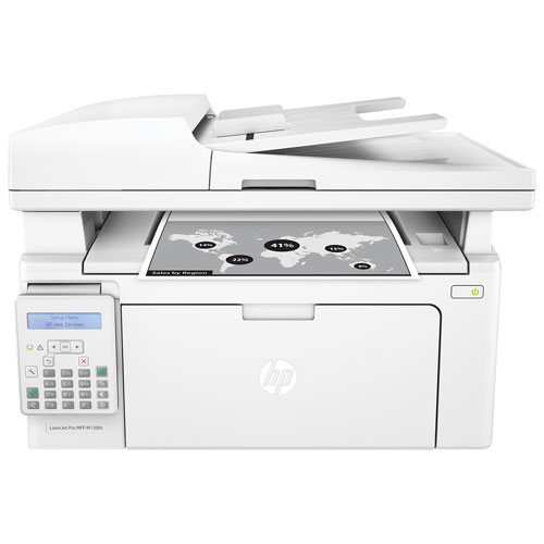 Imprimante tout-en-un LaserJet Pro de HP (M130fn) - Blanc