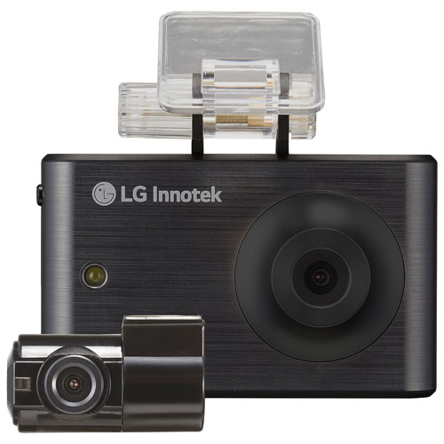 "LG Innotek 3.5"" 720p Touchscreen Dashcam with Rear Camera (RNEK-MN31B) - Black"