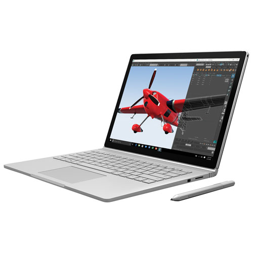 "Microsoft Surface Book 13.5"" Convertible Laptop-Silver (Intel Core i5-6300U/256GB SSD/8GB RAM)-Eng"