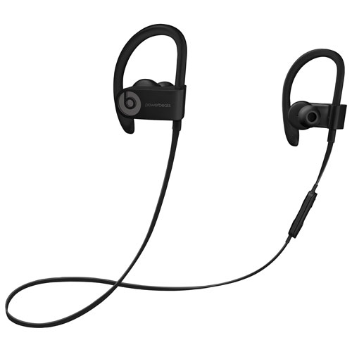 beats by dr dre powerbeats 3 in ear bluetooth sport headphones black earbuds in ear. Black Bedroom Furniture Sets. Home Design Ideas