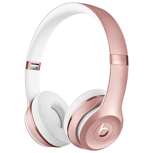 Beats by Dr. Dre Solo3 On-Ear Sound Isolating Bluetooth Headphones - Rose Gold