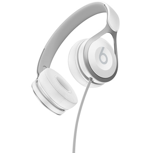 Beats by Dr. Dre EP On- Ear Sound Isolating Headphones with Mic - White