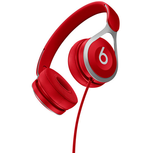 Beats by Dr. Dre EP On- Ear Sound Isolating Headphones with Mic - Red