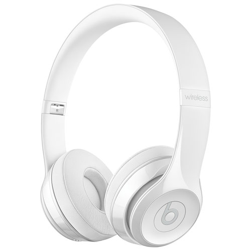 Beats by Dr. Dre Solo3 On-Ear Sound Isolating Bluetooth Headphones - Gloss  White   On-Ear Headphones - Best Buy Canada eacc91ad8031