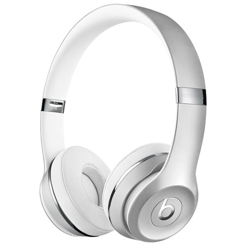 Beats by Dr. Dre Solo3 On-Ear Sound Isolating Bluetooth Headphones - Silver    On-Ear Headphones - Best Buy Canada 4323443b5
