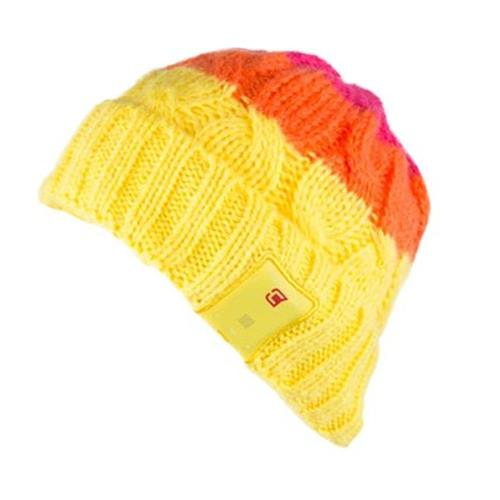 Caseco Bluetooth Toque Women's Cable Knit - Bright Colors - Sunset