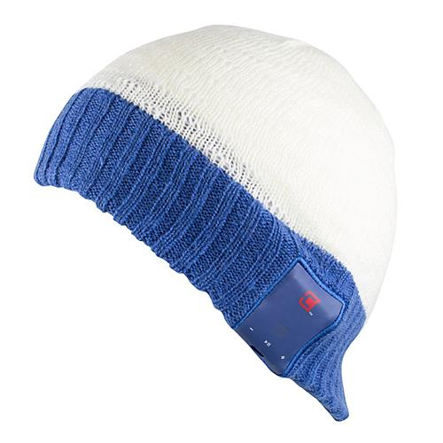 Caseco Bluetooth White and Blue Snow Toque - iPhone Samsung LG Unisex