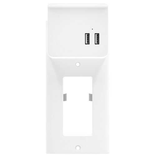 Aluratek Dual USB Wall Outlet Faceplate