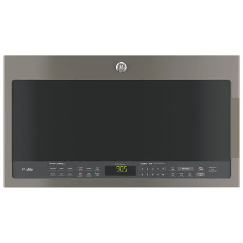 GE Profile SpaceMaker Over-The-Range Microwave - 2.1 Cu. Ft. - Slate