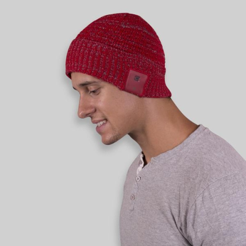 Caseco Cuffed Bluetooth Toque - Women's Style - Red with White Specks