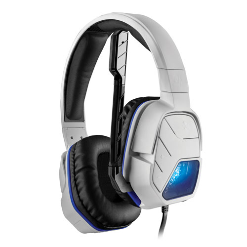 PDP Afterglow LVL 5 Plus Over-Ear Noise Cancelling Headset for PS4 - White