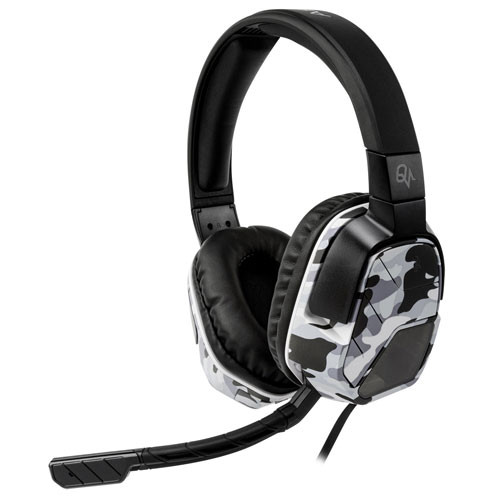 PDP Afterglow LVL 5 Plus Over-Ear Noise Cancelling Headset for PS4 - White Camo