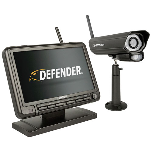 Defender PHOENIXM2 Wireless Indoor/Outdoor Security System with 1 Surveillance Camera - Grey