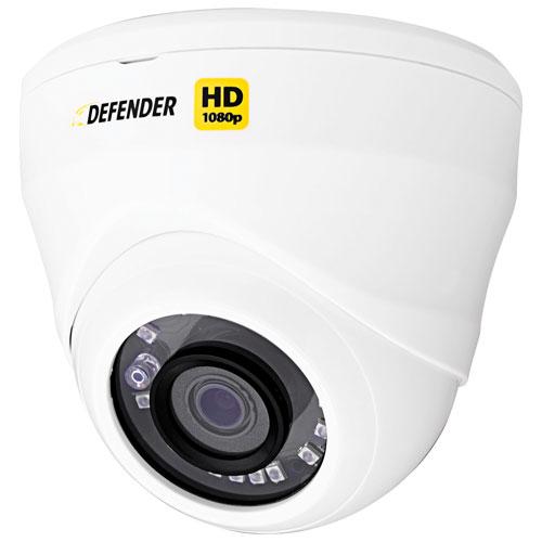 Caméra surveillance HD 1080p en dôme supplémentaire pour intérieur/extérieur - Noir