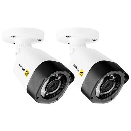 Caméras de surveillance compactes HD 1080p à fil supplémentaires de Defender - Paquet 2 - Noir