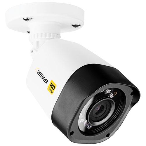 Caméra de surveillance compacte HD 1080p à fil supplémentaire de Defender - Noir