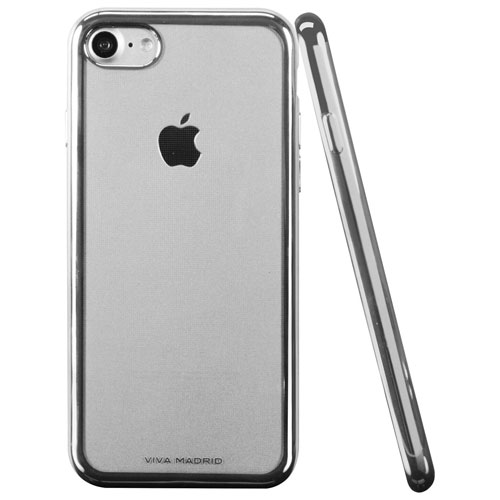 Viva Madrid Metalico iPhone 7/8 Fitted Soft Shell Case - Silver