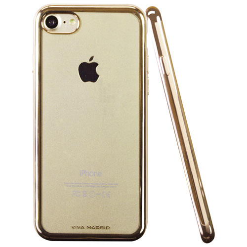 Viva Madrid Metalico iPhone 7/8 Fitted Soft Shell Case - Gold