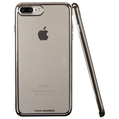 Viva Madrid Metalico iPhone 7/8 Plus Fitted Soft Shell Case - Silver