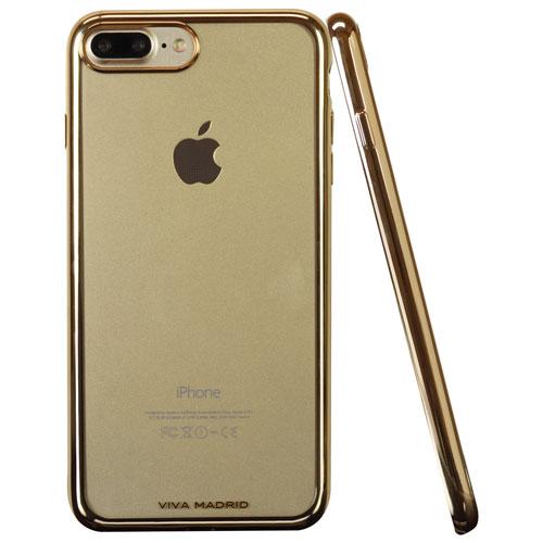Étui souple ajusté Metalico de Viva Madrid pour iPhone 7 Plus/8 Plus - Doré