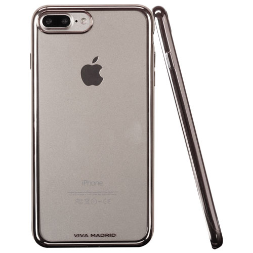 Viva Madrid Metalico iPhone 7/8 Plus Fitted Soft Shell Case - Gun Metal