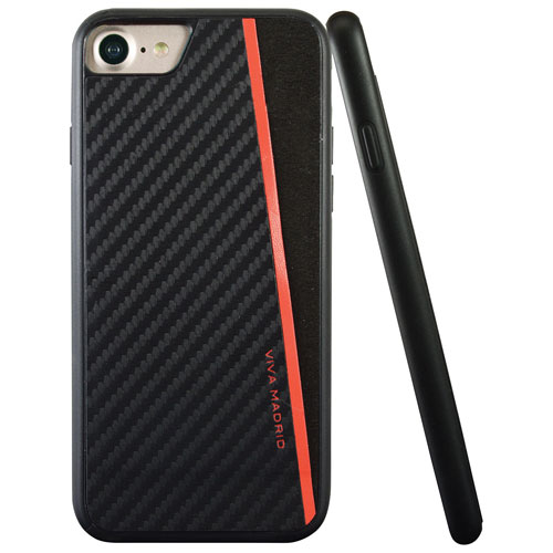 Viva Madrid Racha iPhone 7/8 Fitted Hard Shell Case - Black/Red
