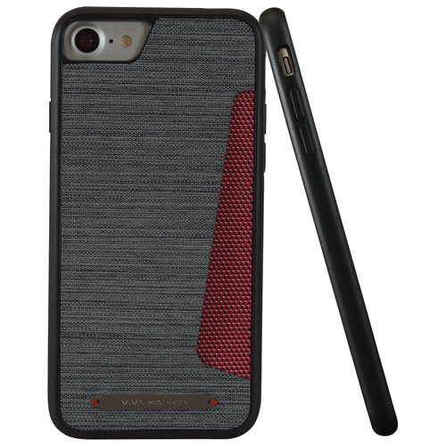 Viva Madrid Atleta iPhone 7/8 Fitted Hard Shell Case - Grey/Red