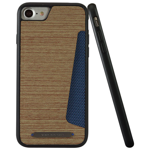 Viva Madrid Atleta iPhone 7 Fitted Hard Shell Case - Brown/Blue