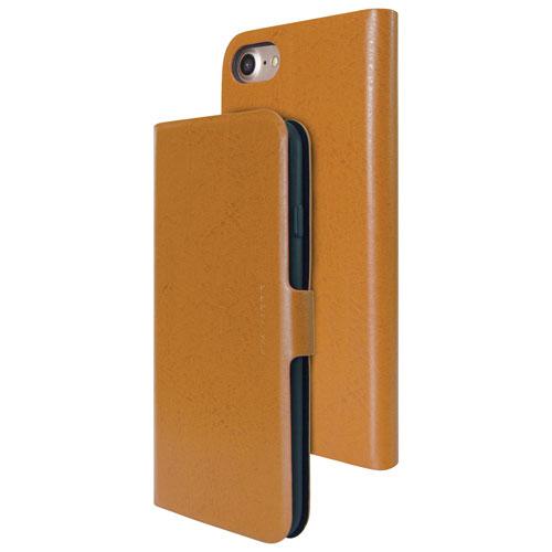 Étui folio rigide ajusté en cuir Finura Cierre de Viva Madrid pour iPhone 7/8 - Brun