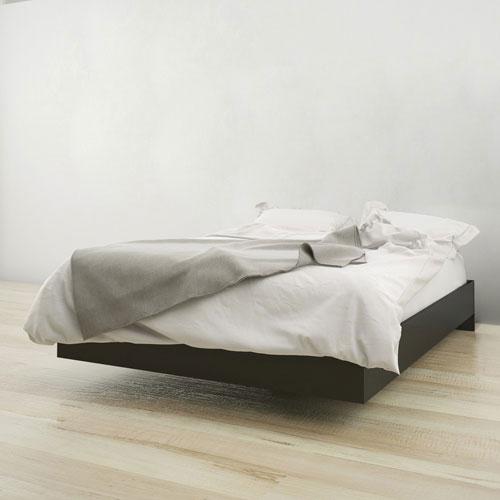 best sneakers 066e3 e507e Contemporary Platform Bed Frame - Double - Black