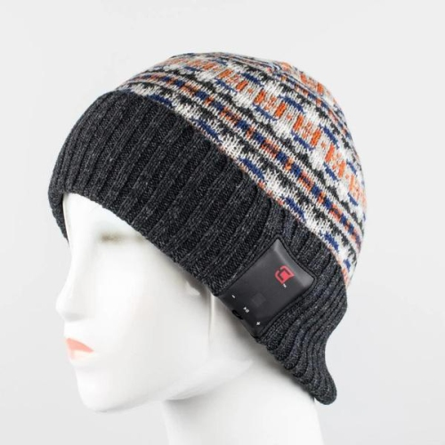 Caseco Men's Cuffed Bluetooth Toque - Norway Pattern - One Size