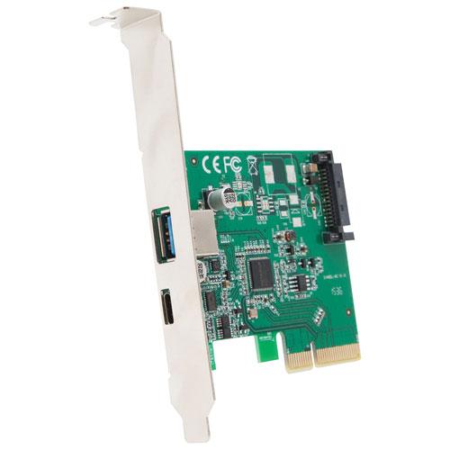 Carte de concentrateur USB 3.1 PCI-E à deux ports d'IOCrest (SI-PEX20189)