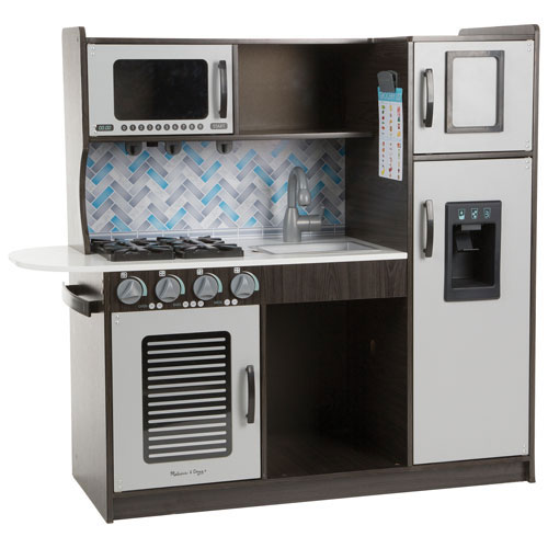 melissa doug chef 39 s wooden modern play kitchen charcoal play kitchens best buy canada. Black Bedroom Furniture Sets. Home Design Ideas