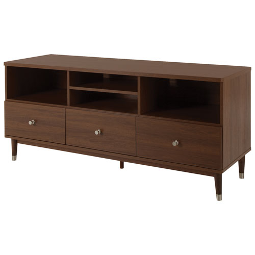 """South Shore Olly 55"""" TV Stand - Brown Walnut"""