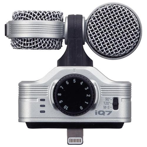 Microphone stéréo canon iQ7 de Zoom pour iPhone