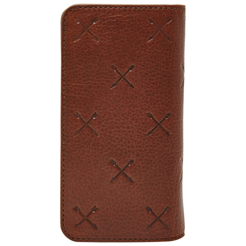 Fossil iPhone 6/6s Leather Fitted Hard Shell Wallet Case - Brown
