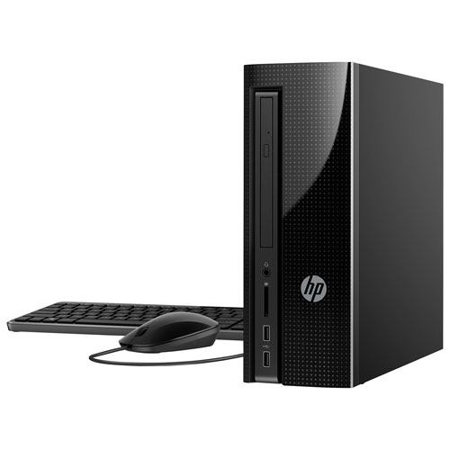 Ordinateur de bureau Slimline de HP (A8-7410 d'AMD/DD 1 To/RAM 8 Go/Radeon R5 d'AMD/Windows 10)