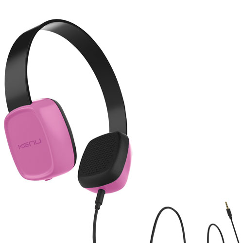Kenu Groovies On-Ear Kids Headphones - Pink
