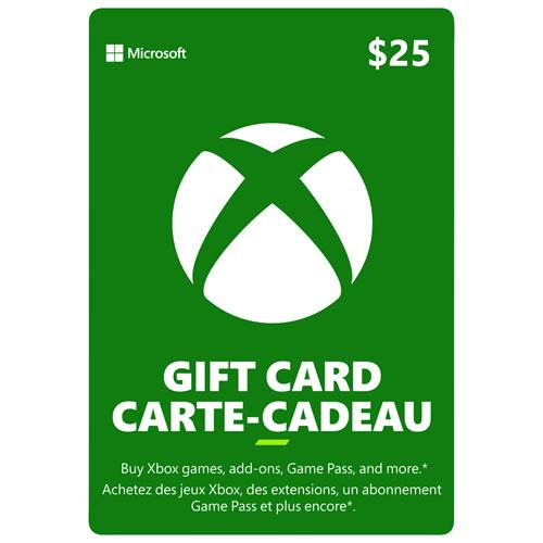 Carte-cadeau de 25 $ pour Xbox Live - Téléchargement numérique