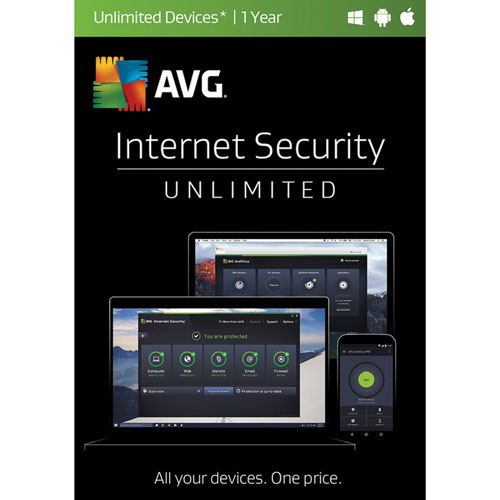 AVG Internet Security - Unlimited Devices - 1 Year
