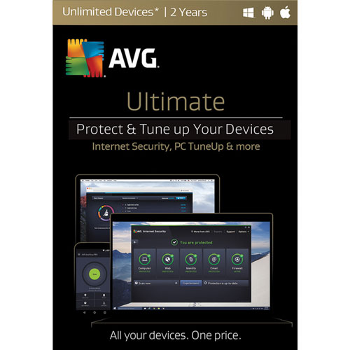 AVG Ultimate - Unlimited Devices - 2 Years