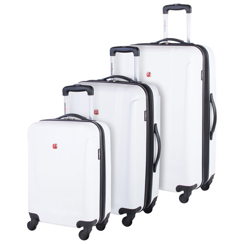 SWISSGEAR Turbo II 3-Piece Hard Side 4-Wheeled Expandable Luggage Set - White
